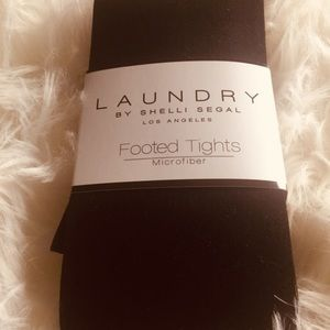 Laundry brand footed tights, microfiber, 2 pair
